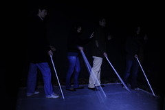 Visitors entering the dark (Dialogue-in-the-Dark) Tags: argentina dark exhibition did venue dialogue clients visuallyimpaired dialogueinthedark didinternational