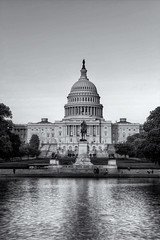 Capitol Hill (wbeem) Tags: travel sunset urban bw usa building monochrome statue landscape daylight washingtondc blackwhite spring nikon place outdoor availablelight flag fineart environmental william architectural clear northamerica government duotone symbols hdr capitolhill greyscale oldglory starsstripes beem digimarc photomatix tonemapped nikonnikkor niksoftware d700 viveza wbeem 2470mmf28g procontrast afszoomnikkor2470mmf28ged silverefx colorefx30 williambeem