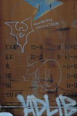 Tex Goth & Whistleblower (A & P Bench) Tags: train bench graffiti canadian graff railfan freight rollingstock fr8 benching