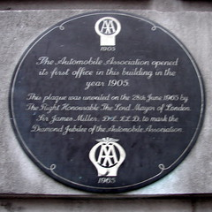 Photo of Automobile Association black plaque