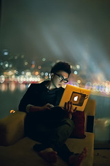 The time to relax is when you don't have time for it   *explored* (achew *Bokehmon*) Tags: new city portrait apple window marina lights nightscape you bokeh like surfing sofa hairstyle explored achew macbookair baysanddo