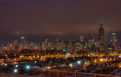 The city of darkness (matt_frankel) Tags: chicago skyline nikon downtown rush hdr d90