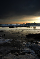 River Portrait 2, winter 2010 (Floydie-101) Tags: winter sunset ice nature water river landscape woodbridge