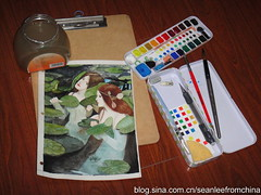 51b1ff43nb45b082bfeff&690 (seanleefromchinaan amateur painter) Tags: watercolor watercolour sketchkit watercolorset watercolorkit