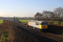 56311 at Red Bank, 4Z56 Stoke Marcroft-Motherwell 22nd Dec 2011 (John Eyres) Tags: wagon move redbank stoke motherwell marcroft 56311