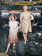 1960 ... hangin' on the assembly line! (x-ray delta one) Tags: car magazine advertising suburban suburbia retro nostalgia americana atomic populuxe housewife conceptcar popularscience popularmechanics