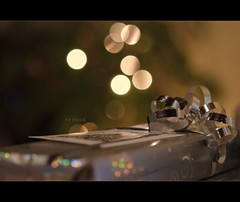 And..that is a Wrap! (S_Freer) Tags: christmas wrapping festive nikon bokeh wrapped wrap gift present ribbon 13 allwrappedup d7000 {sfreer} ourdailychallenge
