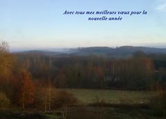 Bonne anne 2012  toutes et  tous! (Yvette Gauthier) Tags: hiver campagne 58 nivre puisaye