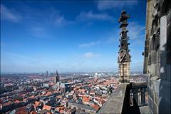 delft (heavenuphere) Tags: city church netherlands europe view toren centre nederland delft kerk 1022mm zuidholland nieuwekerk newchurch southholland viewfromchurchtower