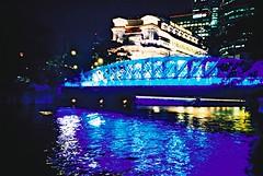 All About Night and Singapore (mi..chael) Tags: longexposure light color lca lomography singapore nightshot kodak toycamera slidefilm crossprocessing analogue vignette boatquay 135mm expiredfilm eb3 bluefullertonhotel