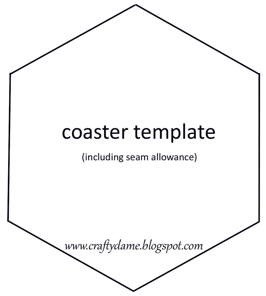 The world 39 s best photos of hexagon and template flickr for Coaster size template