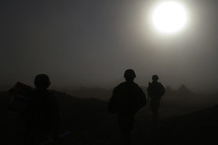 Another World (The U.S. Army) Tags: christmas sunset afghanistan soldier 4id kandahar 2bct warhorse 4thinfantrydivision 2ndbrigadecombatteam fobpacemaker