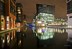 Basin by Night (Richard Beech (rdb75)) Tags: longexposure london night reflections lights evening canal basin paddington happynewyear slowshutterspeed paddingtonbasin grandjunctioncanal westendquay richardbeech rdb75