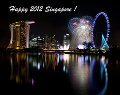 Singapore 2012 Countdown Firework (Wang Guowen (gw.wang)) Tags: lighting longexposure reflection nikon singapore cityscape nightshot firework countdown 2012 greatphotographers singaporeflyer marinabaysands flickraward d7000 tokinaaf1116mmf28 tokinaatx116f28 artsciencemuseum gwwang wwwon9cloudcom singaporecountdown2012party