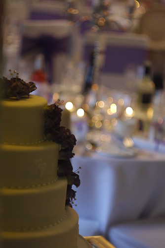 Cake, Candelabra, Candles and Cloth
