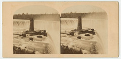 The Horse-shoe Fall, Niagara, as viewed from Goat Island. 1866. (Library Company of Philadelphia) Tags: newyork ontario observation landscape niagarafalls state towers bridges pedestrian photographs waterfalls prints albumen 1866 stereographs