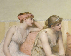 Two Young Women (Annette LeDuff) Tags: woman art yellow female painting pastel dia excerpt favorited 1883 detroitinstituteofarts simplybeautiful photoannetteleduff annetteleduff twozweideuxduedva 12302011 readingthestoryofoenone francisdavidmillet duetstwosomespairscouples pairsgroup womenandthecliffofabstraction