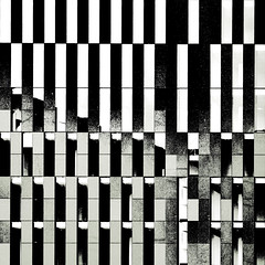 general relativity (fotobananas) Tags: urban blackandwhite abstract architecture liverpool pen geometry olympus zebra ep1 opart fotobananas