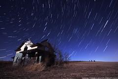 Starlit Night (CodyErvin) Tags: sky moon house abandoned field grass night landscape star nebraska skies clear trail moonlit lit starry