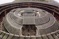Fujian tulou-special architecture of china (cozyta) Tags: world china desktop travel family school house building art heritage history home nature architecture landscape temple landscapes countryside site spring ancient village place earth centre bricks towers group chinese culture structure historic semi unesco soil tiles round historical storey fujian residential legacy multi biggest circular tulou oriented yongding kejia hakkas