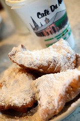 beignets and cafe au lait (djdphotos) Tags: french louisiana neworleans pastry cafedumonde beignets andlotsofit afnikkor50mmf18d powerderedsugar