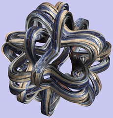 6 Tori / () (TANAKA Juuyoh ()) Tags: abstract texture design 3d code cg pattern graphic structure program torus mapping algorithm mathematica         parametricplot3d