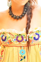 TierraVerde hand embroidered long dress (Aida Coronado Galeria) Tags: travel wedding woman art love colors girl fashion vintage mexico clothing colorful handmade turquoise traditional moda artesanal frida clothes mexican dresses oaxaca chic etsy boho ethnic gypsy embroidered bohemian maxi whimsical huichol bordado etnico bohochic mexicandress handembroidered mexicoart mexicanwedding mexicantextiles mexicanclothes artfrommexico aidacoronado aidacoronadocom mexicanmaxidress bohofolk