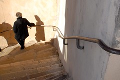 Downstairs (Afterthegoldrush) Tags: france wall stairs paca handrail marseilles levallondesauffes sarkoland