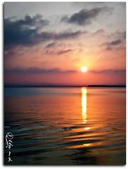 Atardecer (AlbaMD Photography) Tags: color sol valencia atardecer mar agua cielo nubes reflejo horizonte albufera ocultar