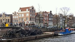 bike-dredging-amsterdam (@WorkCycles) Tags: old city holland netherlands amsterdam bike boat canal fishing crane parking bikes canals prinsengracht wrecked fietsen dredging jordaan fiets workcycles