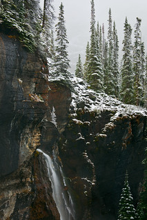 Seven Veils Falls above Lake O'Hara in Yoho National Park