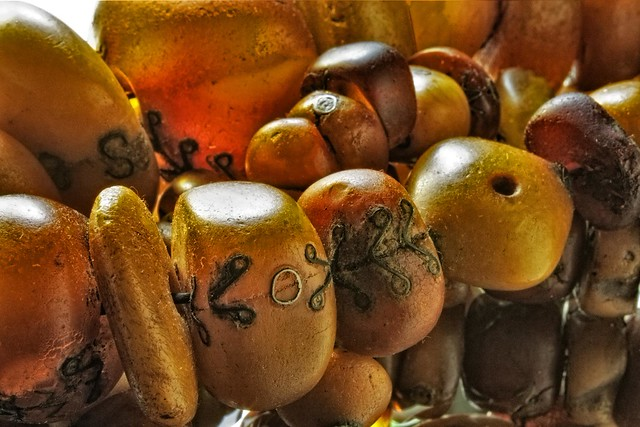 Succulent Amber Beads from Mali
