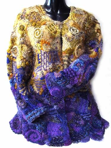 Prudence Mapstone purple-gold-jacket