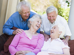 Group of senior friends laughing (Generaciones) Tags: friends woman man male home senior smiling horizontal female laughing garden outside happy chair couple sitting friendship grandmother furniture seat group grandfather lifestyle husband mature together elderly 70s wife oldpeople talking chatting retired companion seventies twopeople retirement grandparent pension ethnicity havingfun caucasian grayhair companionship pensioner oldperson unitedkingdomofgreatbritainandnorthernireland