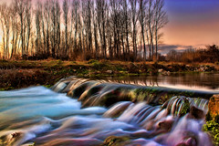 River (Theophilos) Tags: trees sunset water reflections river greece drama kefalari
