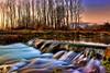 River (Theophilos) Tags: trees sunset water reflections river greece drama kefalari ελλάδα δέντρα νερό δύση ποτάμι αντανάκλαση δράμα κεφαλάρι