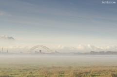 Misty Morning....... (dave-baker) Tags: morning bridge mist david misty dave rural lens canal nikon baker cheshire nikkor runcorn widnes 1755 d7000