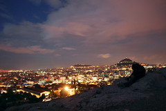 Athens from Mars Hill (Areopagus) (Jeff Rose Photography) Tags: world city travel sunset sky house tree jeff silhouette rose horizontal architecture night clouds outdoors greek photography lights couple europe day cityscape citylife nopeople panoramic illuminated greece plaka development crowded mountainrange marshill jeka athensgreece capitalcities areopagus traveldestinations colorimage jeffrose buildingexterior highangleview mediterraneanculture builtstructure jekaworldphotography jeffrosephotography kalitharosephotography