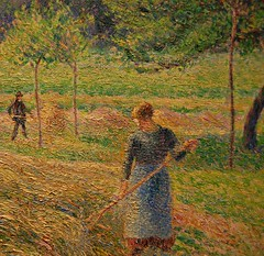 Camille Pissarro (French 1830-1903) - Haying Time (1892) - Detail (UGArdener) Tags: chicago painting impressionism artinstituteofchicago artinstitute pissarro camillepissarro frenchimpressionism hayingtime