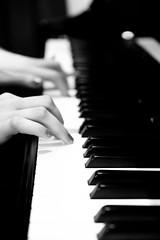Touch of the keys (jimstyle_11) Tags: white black girl keys hands montreal piano