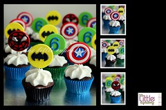 Superhero 6th Birthday (Klaire with a Cake) Tags: little explorer dora superheroes tlc cupcakery klairescupcakes