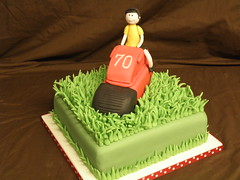 lawnmower cake (MrsEmmaG) Tags: birthday green grass cake square ride figure 70th lawnmover wwwcakedinitcouk