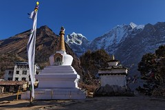 Stupa of Tengboche (Florent Chevalier) Tags: voyage trip travel nepal mountain canon landscape geotagged asia national asie himalaya paysage khumbu himalayas geographic himalaia  summits  himalaja sommets   solokhumbu    himalaje    himalja    himalaji himlaj