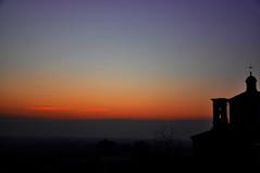 Sunset on my town (djjonatan) Tags: winter sunset italy panorama cold silhouette landscape evening italia tramonto view vista inverno brescia lombardia freddo sera lombardy churc sagome carpenedolo rememberthatmomentlevel1