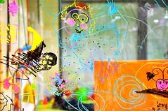 children graffiti, the future and a happy life