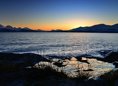 Sun is back again (John A.Hemmingsen) Tags: sunset sky sun seascape reflection water colors landscape norge nordnorge troms troms nikkor1685dx nikond7000