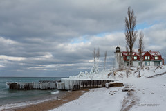 Point Betsie Lighthouse (westmichigan) Tags: winter lighthouse lake snow ice nature water landscape outdoors michigan lakemichigan greatlakes pointbetsie westmichigan canon24105f4lis pointbetsielighthouse canon7d