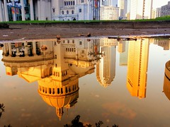 Reflection (brooksbos) Tags: city light sky urban reflection church water pool boston skyline architecture geotagged ma photography photo mr massachusetts sony newengland cybershot bostonma sonycybershot christianscience motherchurch 02115 lurvely thatsboston dschx5v hx5v brooksbos