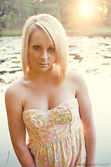 Casey A. (Rob Radius Photography) Tags: lake water grass yellow orlando model weeds dress florida blonde winterpark sunflare caseya