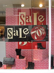 Sale up to 70% off (Katie-Rose) Tags: uk boots sale letters malvern worcestershire clarks katierose upto70off competitioncorner canonpowershotsx230hs 112picturesin2012 46advertisement letterscompetition